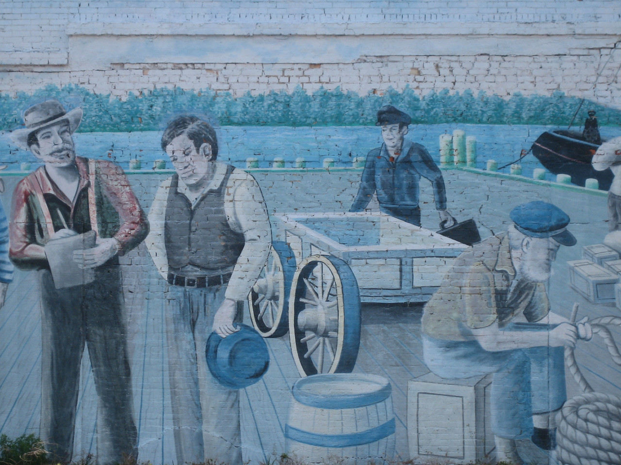 Detail of mural in Milton