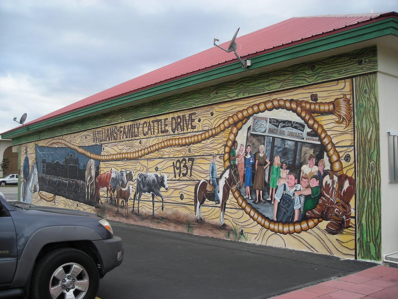 Historic mural in downtown Okeechobee (Linda Benton)