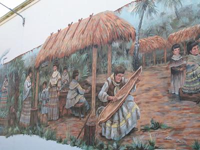 Detail of history mural in Okeechobee (Sandra Friend)