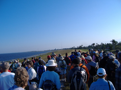 Hikers ready to start the Big O at Pahokee (Paul Cummings)