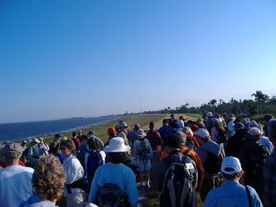 Hikers ready to start the Big O at Pahokee (Paul Cummings)