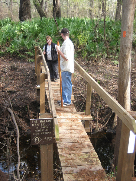 Walking Man Bridge along the Florida Trail<br /> PHOTO CREDIT: Sandra Friend / Florida Trail Association