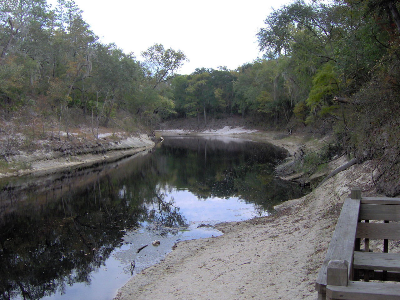 The Suwannee River during low water<br /> PHOTO CREDIT: Bruce Lyon / Florida Trail Association