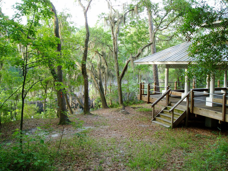 Florida Trail passes by the gazebo in Stephen Foster State Park<br /> PHOTO CREDIT: Deb Blick  / Florida Trail Association