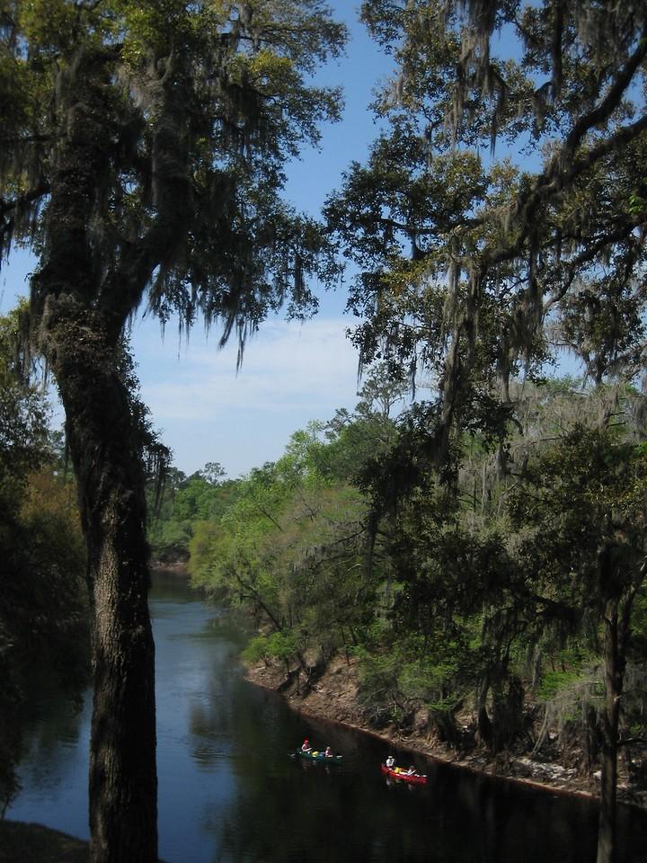 Canoeists on Suwannee River<br /> PHOTO CREDIT: Sandra Friend / Florida Trail Association