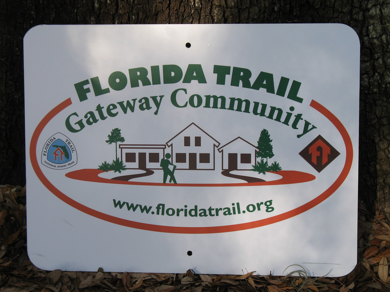 Florida Trail Gateway Community road sign