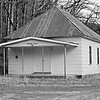 Dripping Springs Schoolhouse (b&w rendering) - Located about 4.25 miles north of Boston, AR via Madison Co 3175 to 3415, then SE on Madison Co 3500, just past the intersection of Madison Co 3415 / 3500.  Built in 1921, and still hanging on.<br /> <br /> The building has seen better days.  The isolated location, proximity to a popular swimming hole on the upper Kings River and the nearby Kings River Falls Natural Area are mixed blessings -- it's easy to drive to, but the schoolhouse and remaining outbuildings are occasional targets for vandalism.