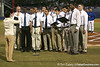 photo by Tim Casey<br /> <br /> The Florida Glee Club sings the national anthem before the Gators' 6-3 win on Friday, February 20, 2009 at McKethan Stadium in Gainesville, Fla.