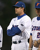 photo by Tim Casey<br /> <br /> Florida senior first baseman Brandon McArthur is introduced before the Gators' 6-3 win on Friday, February 20, 2009 at McKethan Stadium in Gainesville, Fla.