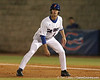 photo by Tim Casey<br /> <br /> Florida senior Avery Barnes takes a lead off of first base during the first inning of the Gators' 6-3 win on Friday, February 20, 2009 at McKethan Stadium in Gainesville, Fla.
