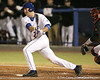 photo by Tim Casey<br /> <br /> Florida junior Clayton Pisani grounds out to third base during the first inning of the Gators' 6-3 win on Friday, February 20, 2009 at McKethan Stadium in Gainesville, Fla.