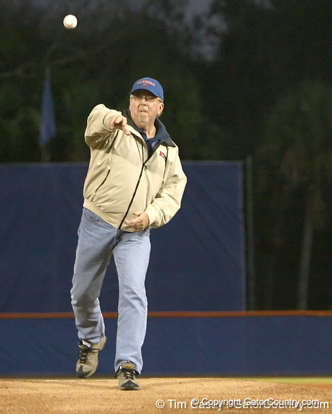 photo by Tim Casey<br /> <br /> before the Gators' 6-3 win on Friday, February 20, 2009 at McKethan Stadium in Gainesville, Fla.