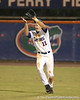 photo by Tim Casey<br /> <br /> Florida sophomore outfielder Riley Cooper catches a fly ball during the ninth inning of the Gators' 6-3 win on Friday, February 20, 2009 at McKethan Stadium in Gainesville, Fla.