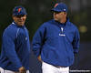 photo by Tim Casey<br /> <br /> Florida baseball head coach Kevin O'Sullivan gets introduced before the Gators' 6-3 win on Friday, February 20, 2009 at McKethan Stadium in Gainesville, Fla.