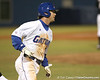 photo by Tim Casey<br /> <br /> Florida senior first baseman Brandon McArthur runs out a fly out to center field during the eighth inning of the Gators' 6-3 win on Friday, February 20, 2009 at McKethan Stadium in Gainesville, Fla.