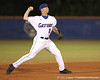 photo by Tim Casey<br /> <br /> Florida sophomore Josh Adams throws out a runner at first base during the first inning of the Gators' 6-3 win on Friday, February 20, 2009 at McKethan Stadium in Gainesville, Fla.