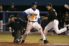 photo by Tim Casey<br /> <br /> Florida senior first baseman Brandon McArthur reacts after scoring on an RBI sacrifice fly by Preston Tucker during the first inning of the Gators' 6-3 win on Friday, February 20, 2009 at McKethan Stadium in Gainesville, Fla.