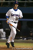 photo by Tim Casey<br /> <br /> Florida senior Avery Barnes walks off of the field after popping out to the catcher during the second inning of the Gators' 6-3 win on Friday, February 20, 2009 at McKethan Stadium in Gainesville, Fla.
