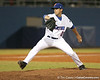 photo by Tim Casey<br /> <br /> Florida junior pitcher Tony Davis winds up during the sixth inning of the Gators' 8-5 loss to the Miami Hurricanes on Friday, February 27, 2009 at McKethan Stadium in Gainesville, Fla.