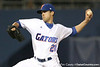 photo by Tim Casey<br /> <br /> Florida junior pitcher Tony Davis winds up during the seventh inning of the Gators' 8-5 loss to the Miami Hurricanes on Friday, February 27, 2009 at McKethan Stadium in Gainesville, Fla.