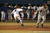 photo by Tim Casey<br /> <br /> Florida junior catcher Buddy Munroe runs for a wild pitch by Will Jolin during the eighth inning of the Gators' 8-5 loss to the Miami Hurricanes on Friday, February 27, 2009 at McKethan Stadium in Gainesville, Fla.