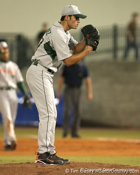 photo by Tim Casey<br /> <br /> Chris Hernandez winds up during the second inning of the Gators' 8-5 loss to the Miami Hurricanes on Friday, February 27, 2009 at McKethan Stadium in Gainesville, Fla.