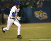photo by Tim Casey<br /> <br /> Florida senior Avery Barnes grounds out to second base during the ninth inning of the Gators' 8-5 loss to the Miami Hurricanes on Friday, February 27, 2009 at McKethan Stadium in Gainesville, Fla.