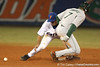 photo by Tim Casey<br /> <br /> Dave DiNatale advances to second base on a wild pitch during the eighth inning of the Gators' 8-5 loss to the Miami Hurricanes on Friday, February 27, 2009 at McKethan Stadium in Gainesville, Fla.