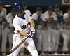 photo by Tim Casey<br /> <br /> Florida sophomore Josh Adams fouls off a pitch during the ninth inning of the Gators' 8-5 loss to the Miami Hurricanes on Friday, February 27, 2009 at McKethan Stadium in Gainesville, Fla.