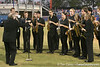 photo by Tim Casey<br /> <br /> A saxophone band performs the national anthem before the Gators' 8-5 loss to the Miami Hurricanes on Friday, February 27, 2009 at McKethan Stadium in Gainesville, Fla.