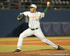 photo by Tim Casey<br /> <br /> Daniel Miranda winds up during the sixth inning of the Gators' 8-5 loss to the Miami Hurricanes on Friday, February 27, 2009 at McKethan Stadium in Gainesville, Fla.