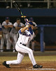 photo by Tim Casey<br /> <br /> Florida senior Avery Barnes flies out to center field during the seventh inning of the Gators' 8-5 loss to the Miami Hurricanes on Friday, February 27, 2009 at McKethan Stadium in Gainesville, Fla.