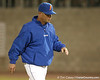 photo by Tim Casey<br /> <br /> Florida head coach Kevin O'Sullivan returns to the dugout during the fourth inning of the Gators' 8-5 loss to the Miami Hurricanes on Friday, February 27, 2009 at McKethan Stadium in Gainesville, Fla.