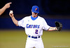 UF sophomore infielder Josh Adams prepares to throw the ball during the Gators' 8-5 loss to the Miami Hurricanes at McKethan Stadium / Gator Country photo by Casey Brooke Lawson