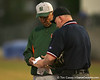 photo by Tim Casey<br /> <br /> Miami head coach Jim Morris presents his lineup card before the Gators' 8-5 loss to the Hurricanes on Friday, February 27, 2009 at McKethan Stadium in Gainesville, Fla.