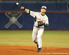 photo by Tim Casey<br /> <br /> Scott Lawson throws out Preston Tucker at first base during the sixth inning of the Gators' 8-5 loss to the Miami Hurricanes on Friday, February 27, 2009 at McKethan Stadium in Gainesville, Fla.