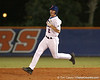 photo by Tim Casey<br /> <br /> Florida sophomore Josh Adams runs to second on a ground rule double during the third inning of the Gators' 8-5 loss to the Miami Hurricanes on Friday, February 27, 2009 at McKethan Stadium in Gainesville, Fla.