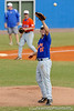Senior pitcher Patrick Keating catches a ball thrown from first base during the University of Florida Orange and Blue scrimmage game in Gainesville, Fla on November 8, 2008. (Casey Brooke Lawson / Gator Country)