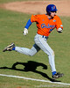 Florida freshman Tyler Thompson runs to first base during the University of Florida Orange and Blue scrimmage game in Gainesville, Fla on November 8, 2008. (Casey Brooke Lawson / Gator Country)