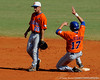 Junior Matt den Dekker steals second base during the University of Florida Orange and Blue scrimmage game in Gainesville, Fla on November 8, 2008. (Casey Brooke Lawson / Gator Country)