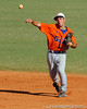 Florida junior Mike Moody throws the ball to first base during the University of Florida Orange and Blue scrimmage game in Gainesville, Fla on November 8, 2008. (Casey Brooke Lawson / Gator Country)