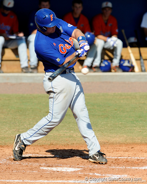 Senior Teddy Foster takes a swing during the University of Florida Orange and Blue scrimmage game in Gainesville, Fla on November 8, 2008. (Casey Brooke Lawson / Gator Country)