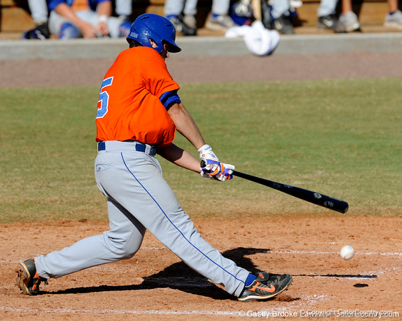 Florida freshman Preston Tucker bats during the University of Florida Orange and Blue scrimmage game in Gainesville, Fla on November 8, 2008. (Casey Brooke Lawson / Gator Country)