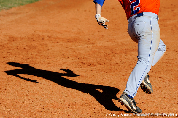 Florida sophomore Josh Adams casts a shadow during the University of Florida Orange and Blue scrimmage game in Gainesville, Fla on November 8, 2008. (Casey Brooke Lawson / Gator Country)