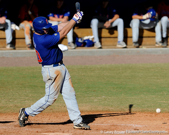 Senior Teddy Foster swings during the University of Florida Orange and Blue scrimmage game in Gainesville, Fla on November 8, 2008. (Casey Brooke Lawson / Gator Country)