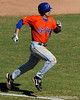 Sophomore Josh Adams runs toward first base during the University of Florida Orange and Blue scrimmage game in Gainesville, Fla on November 8, 2008. (Casey Brooke Lawson / Gator Country)