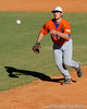 Florida freshman Preston Tucker lobs a ball to first base during the University of Florida Orange and Blue scrimmage game in Gainesville, Fla on November 8, 2008. (Casey Brooke Lawson / Gator Country)