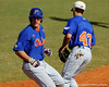 Junior catcher Hampton Tignor lands at first base during the University of Florida Orange and Blue scrimmage game in Gainesville, Fla on November 8, 2008. (Casey Brooke Lawson / Gator Country)