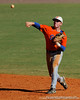 Florida freshman Jerico Weitzel throws the ball to first base during the University of Florida Orange and Blue scrimmage game in Gainesville, Fla on November 8, 2008. (Casey Brooke Lawson / Gator Country)