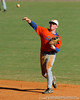 Jerico Weitzel throws the ball to first base during the University of Florida Orange and Blue scrimmage game in Gainesville, Fla on November 8, 2008. (Casey Brooke Lawson / Gator Country)